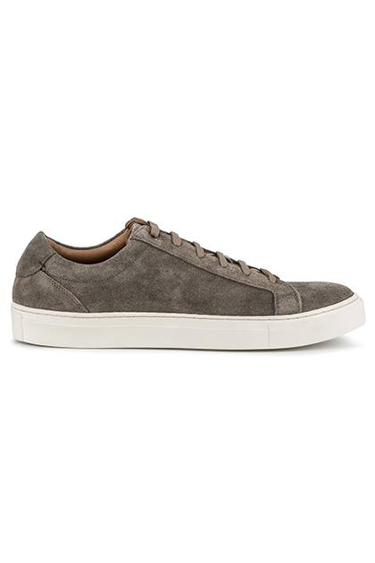 SUEDE TRAINERS, Beige, medium