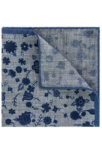 Image of POCHETTE STAMPA A FIORI IN LANA -  MADE IN ITALY