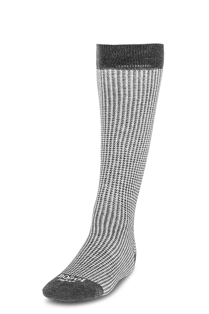 Image of CALZA LUNGA PIED DE POULE IN COTONE -  MADE IN ITALY