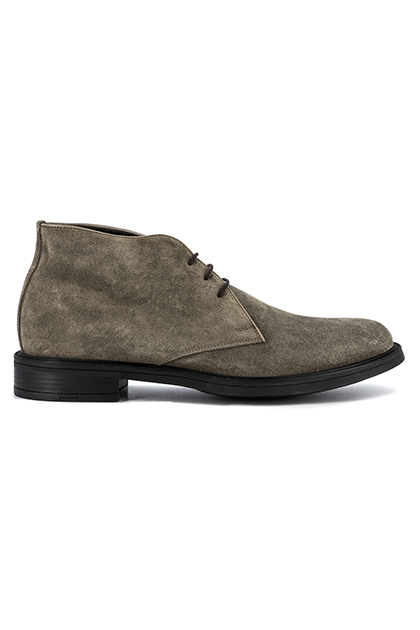 SUEDE ANKLE BOOTS - MADE IN ITALY, Taupe (Turtle-Dove), medium