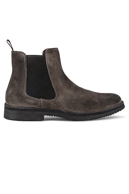 LIVED-IN SUEDE BEATLE BOOTS - MADE IN ITALY, Charcoal, medium
