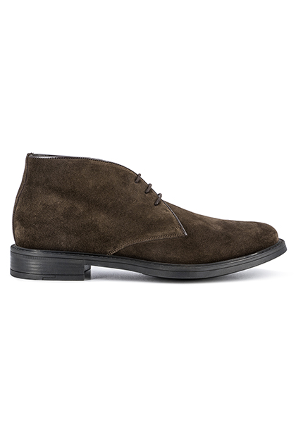 SUEDE ANKLE BOOTS - MADE IN ITALY, Dark Brown, medium