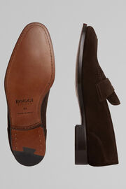 Suede Loafers, Dark brown, hi-res