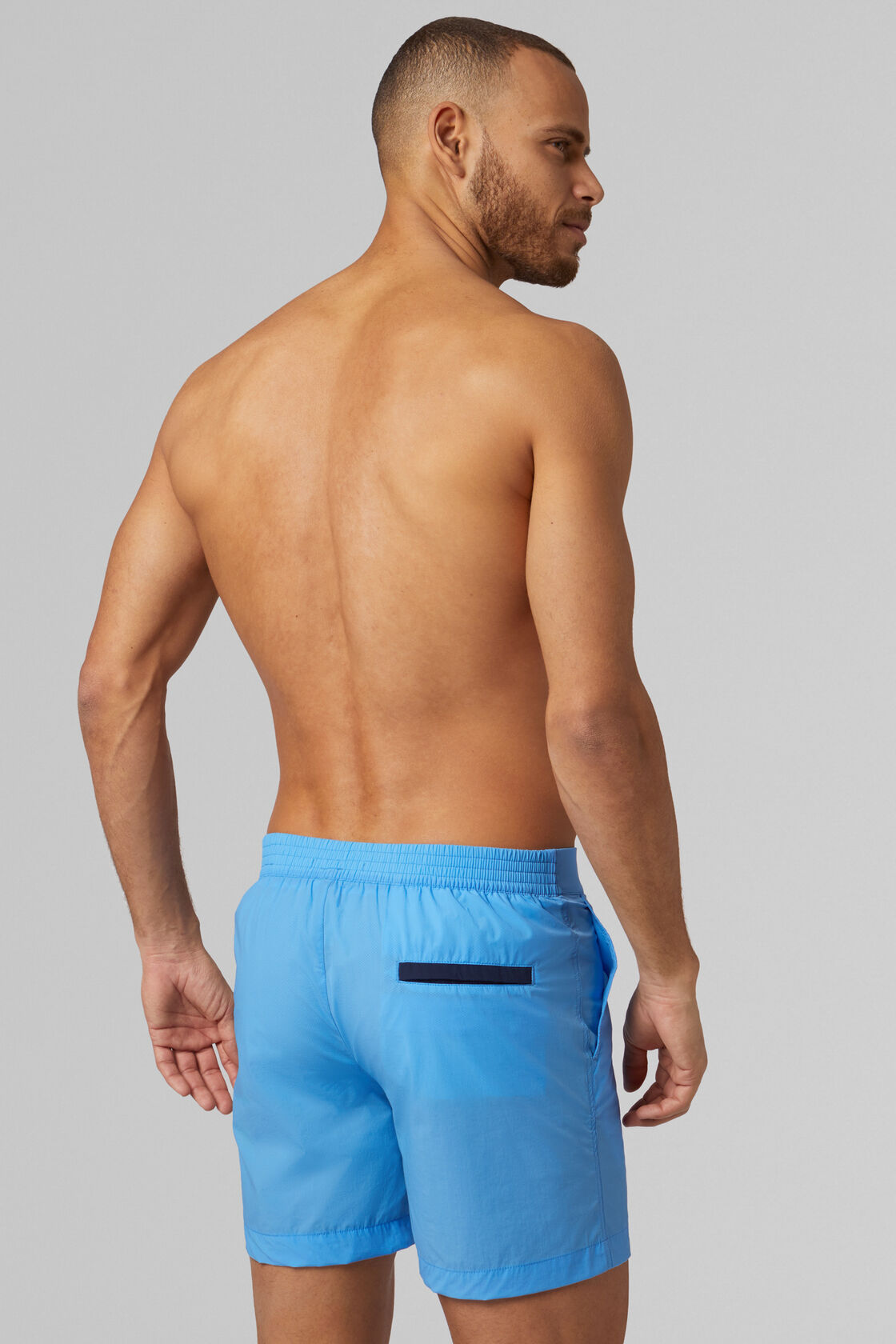 COSTUME AZZURRO IN NYLON STRETCH, , hi-res