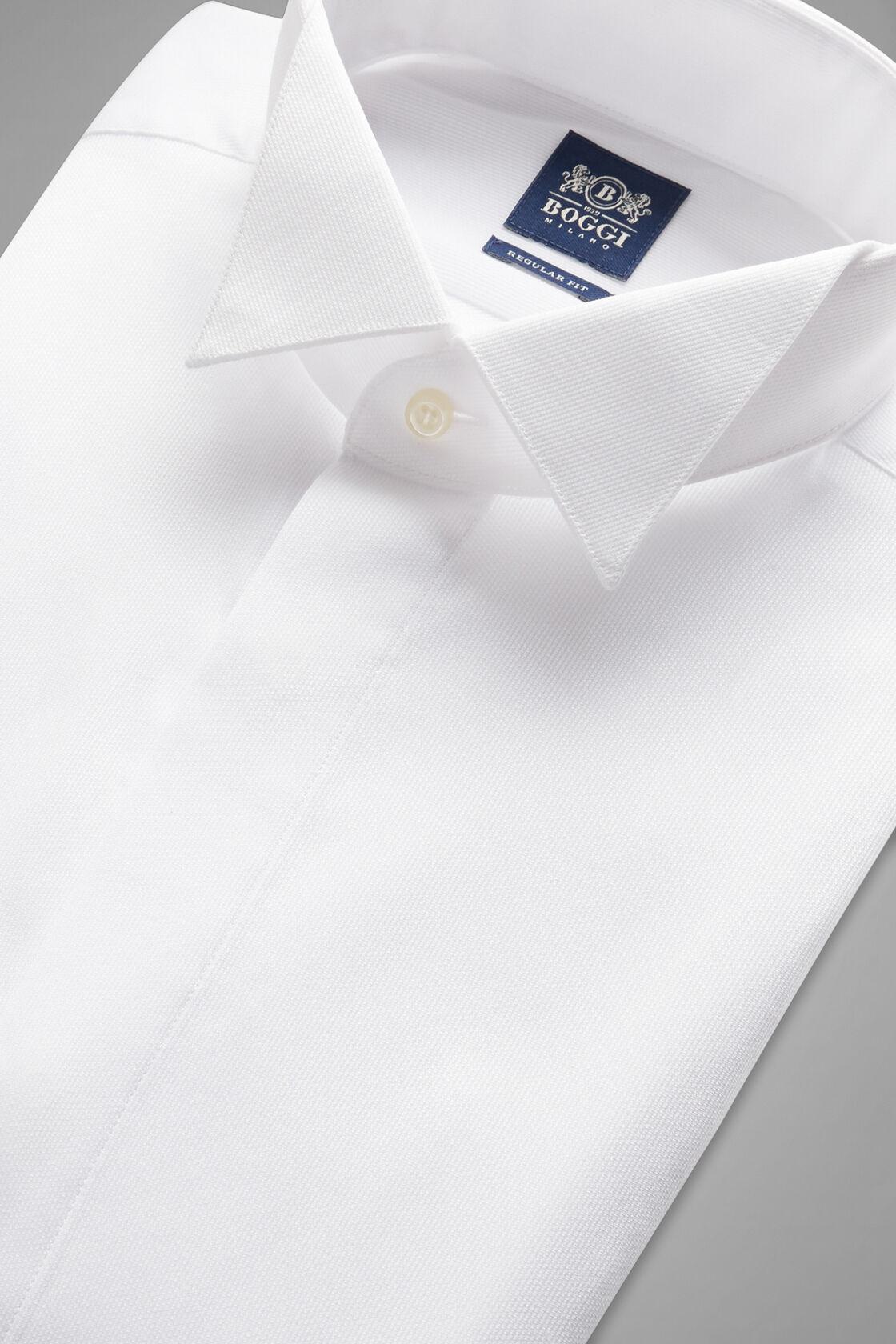 Camicia Bianca Collo Diplomatico Regular Fit, Bianco, hi-res