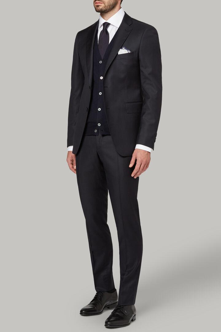Navy Wool Nizza Suit Jacket, Navy blue, hi-res