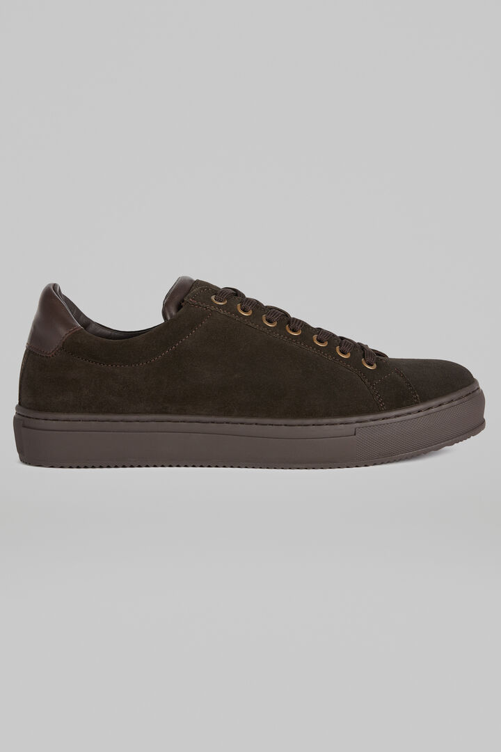 Suede Trainers, Dark brown, hi-res