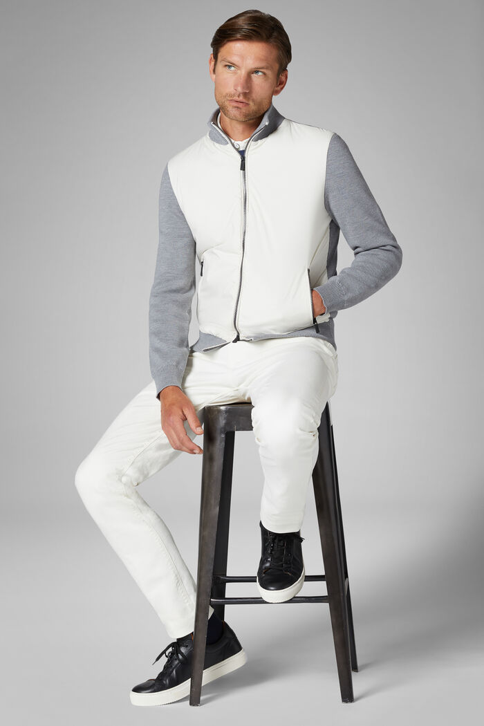 Merino Wool And Nylon Full Zip Jacket, , hi-res