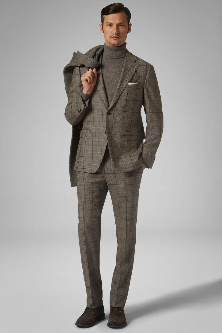 Anzug Haselnussbraun Napoli Aus Wolle, Haselnuss, hi-res