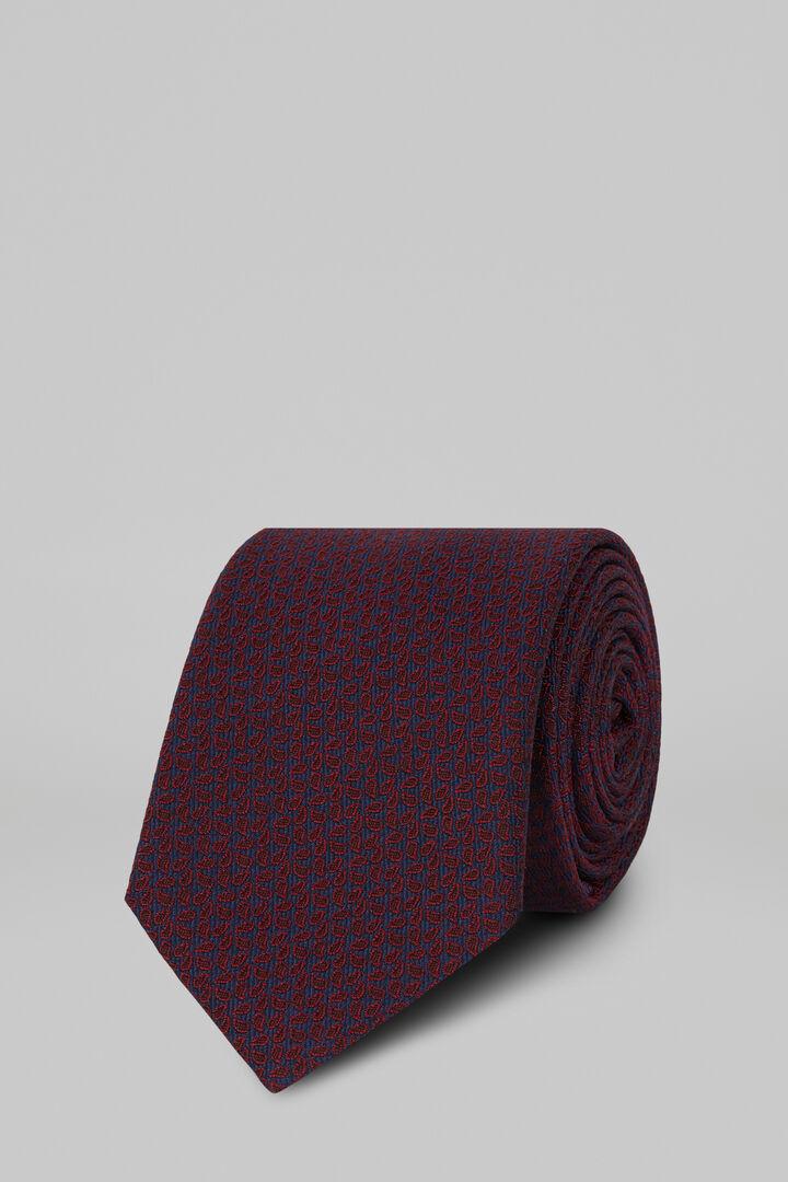 Cravate À Motifs En Soie Jacquard, Bourgogne, hi-res