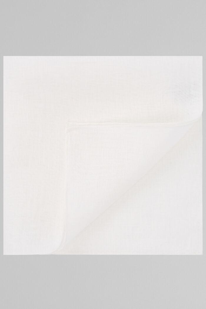 Einfarbiges Einstecktuch Weiss Aus Reinem Leinen, , hi-res