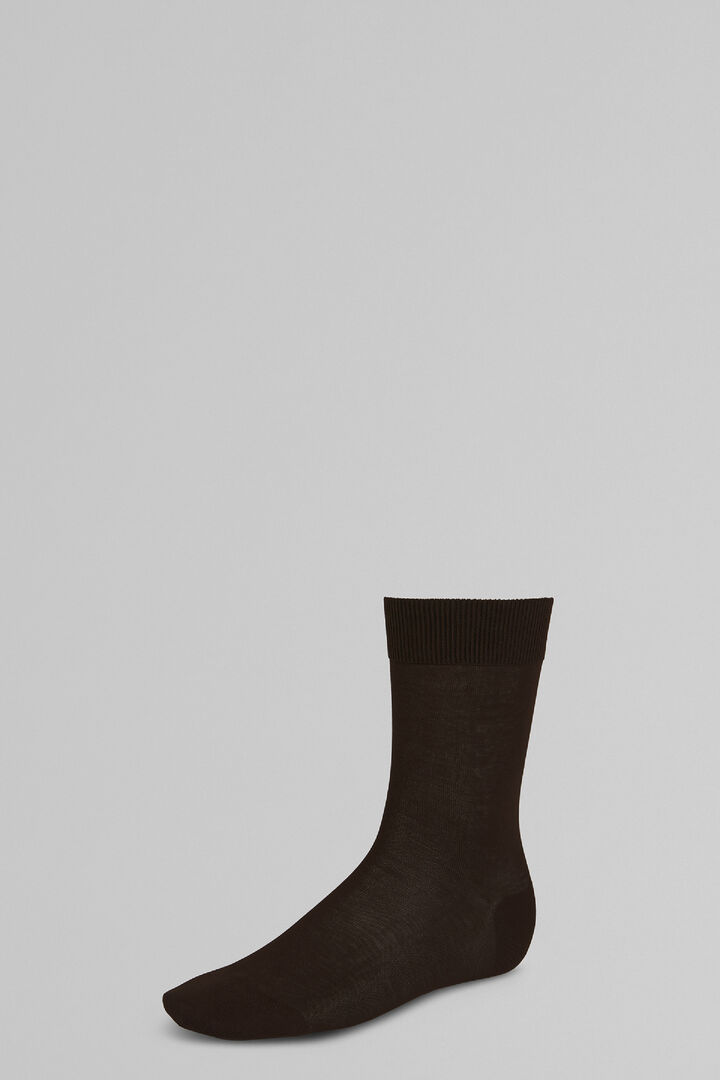 Plain Short Socks, Marrone, hi-res