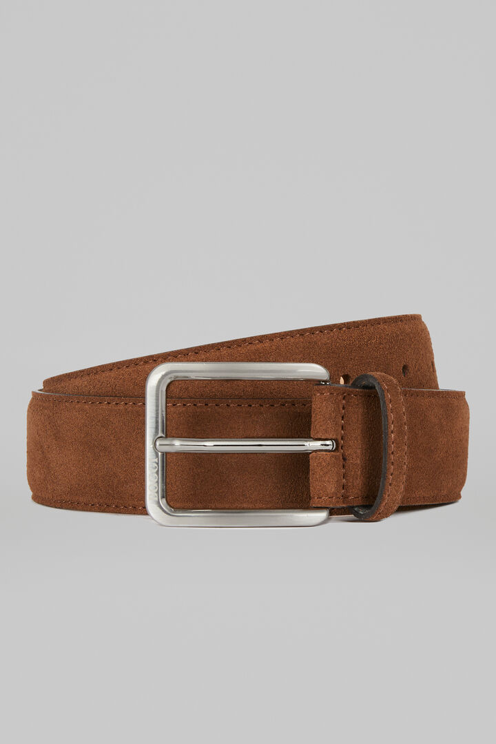 Cintura In Pelle Scamosciata, Cammello, hi-res