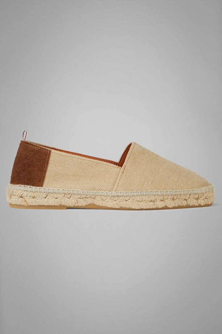 Canvas And Suede Espadrilles, Natural, hi-res