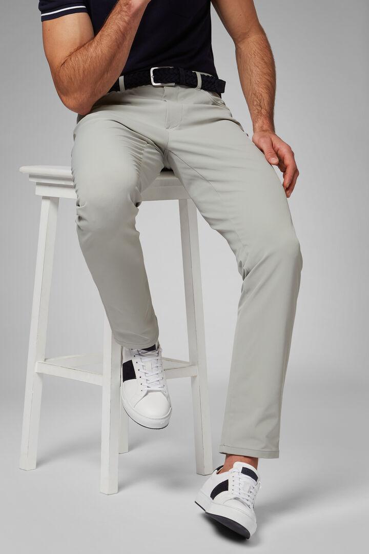 Regular Fit Technical Nylon Trousers, Light grey, hi-res