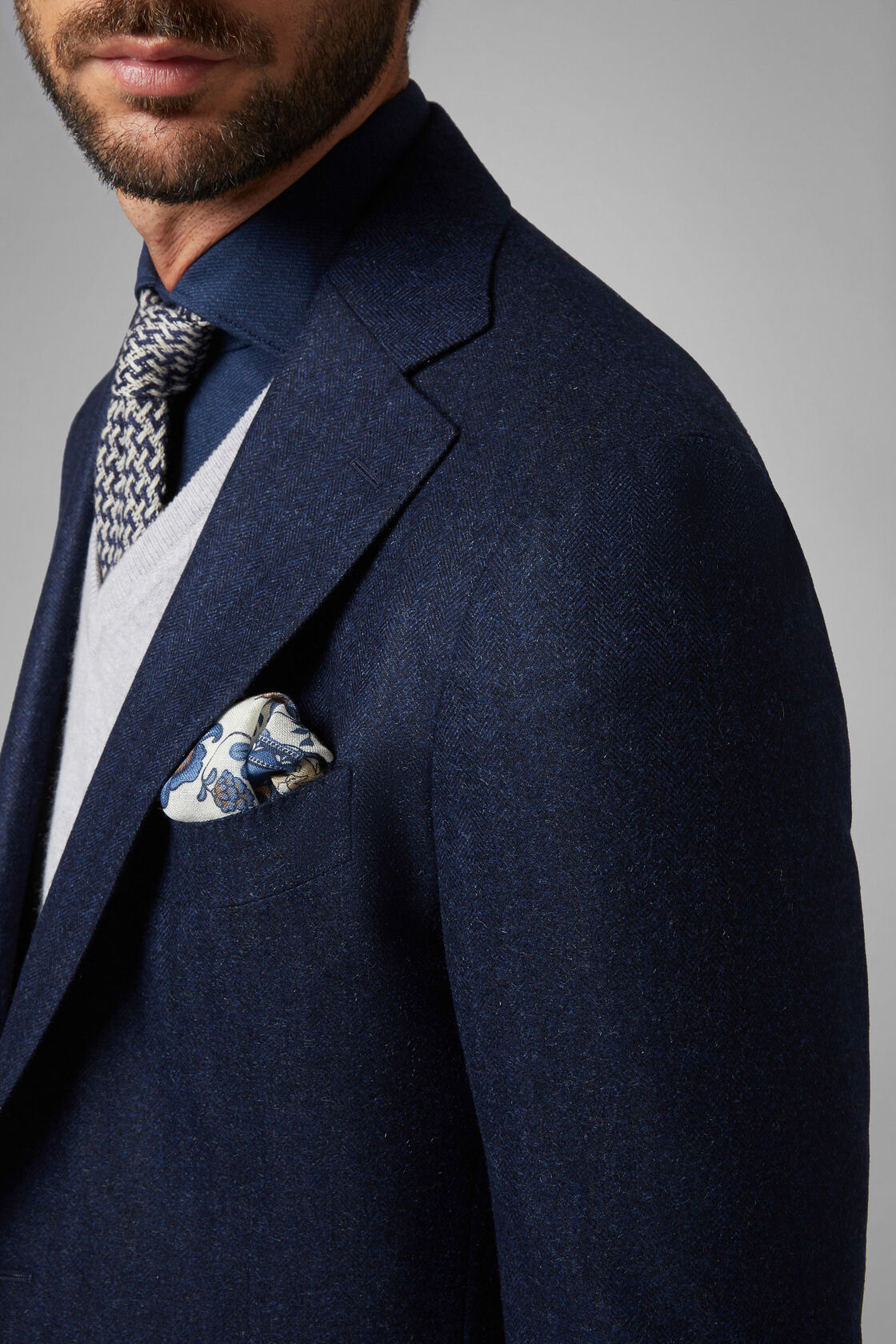 low priced 24363 2efff Blue Cashmere/Mohair/Silk Napoli Blazer