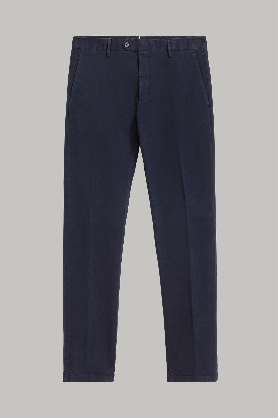 Hose aus elastischer baumwolle, Blau, hi-res