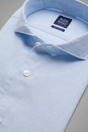 Hemd Aus Leinen-Tencel Mit Cut-Away-Kragen Regular Fit, Hellblau, hi-res