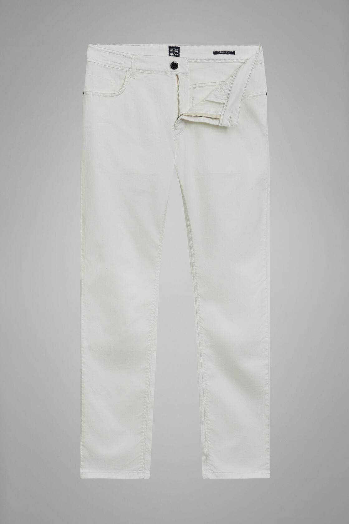 Pantalone 5 Tasche In Cotone Gabardina Tencel Regualr Fit, , hi-res