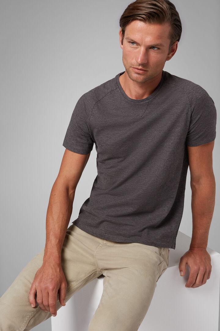 Grey Cotton Jersey T-Shirt, Grey, hi-res