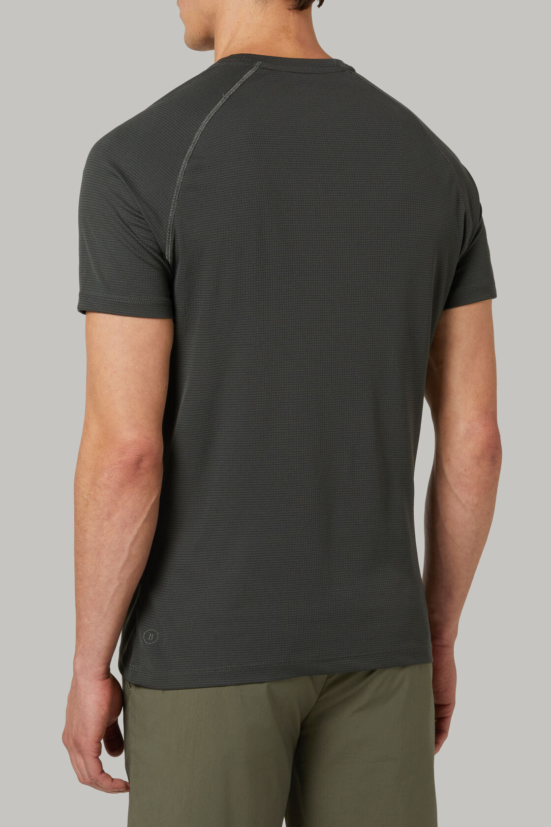 T-shirt in jersey tecnico ecosostenibile, Militare, hi-res
