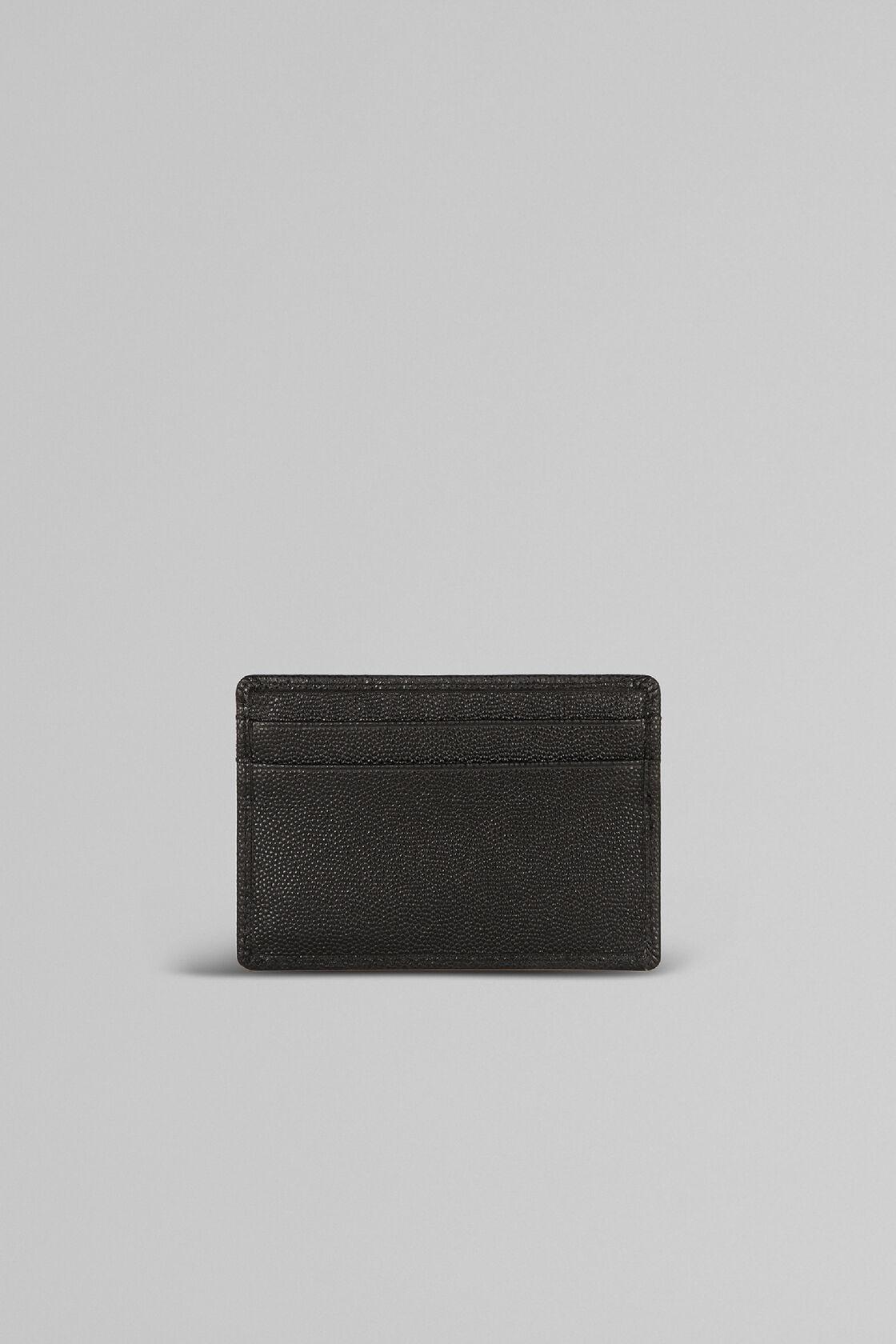 Porta Carte Di Credito In Pelle Stampa Caviar, Nero, hi-res