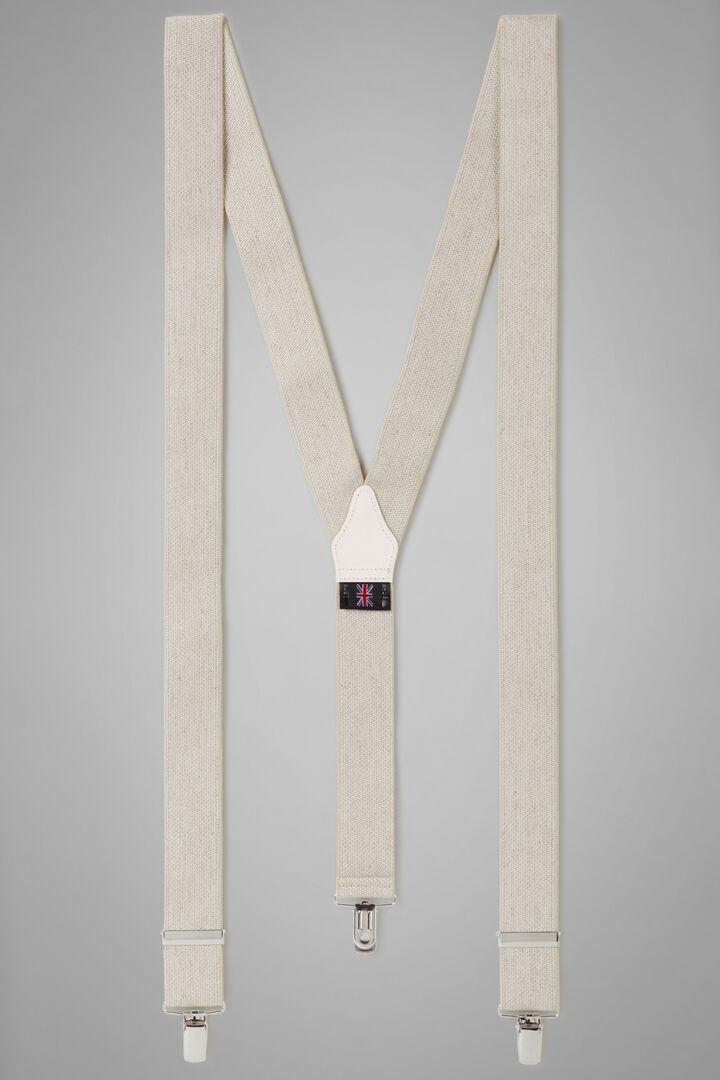 Elastische Hosenträger Mit Canvas-Effekt, Natürlich, hi-res