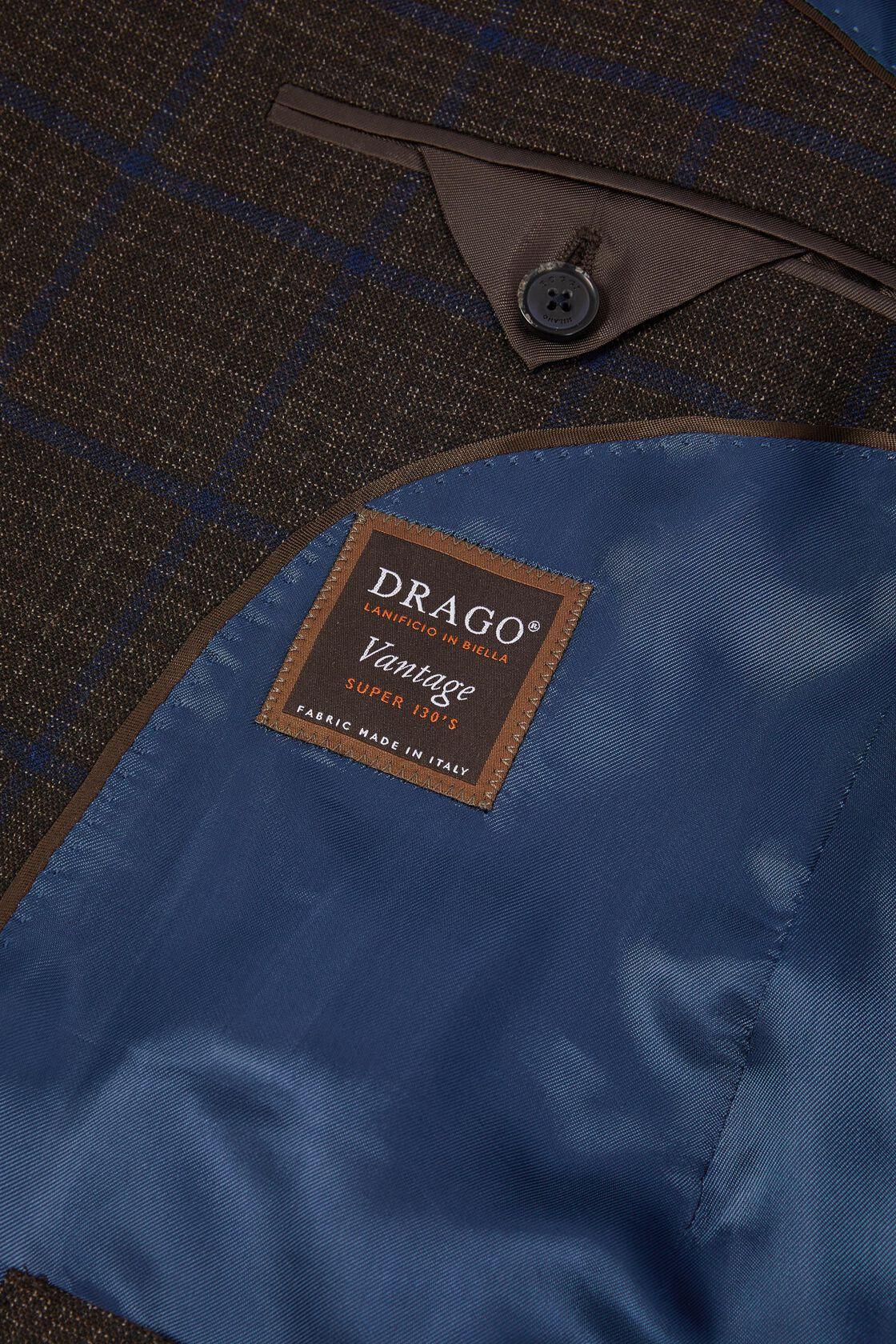 Dark Brown Wool Roma Blazer