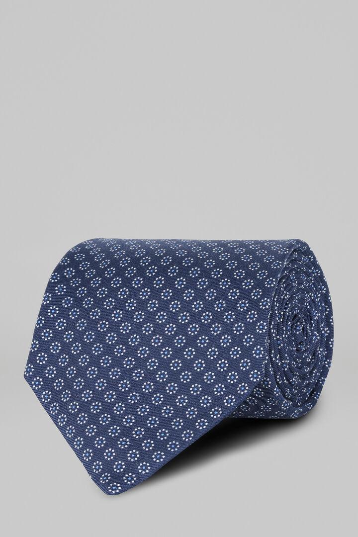 Bedruckte Krawatte Mit Blumenmuster Und 5 Lagen, Blau, hi-res