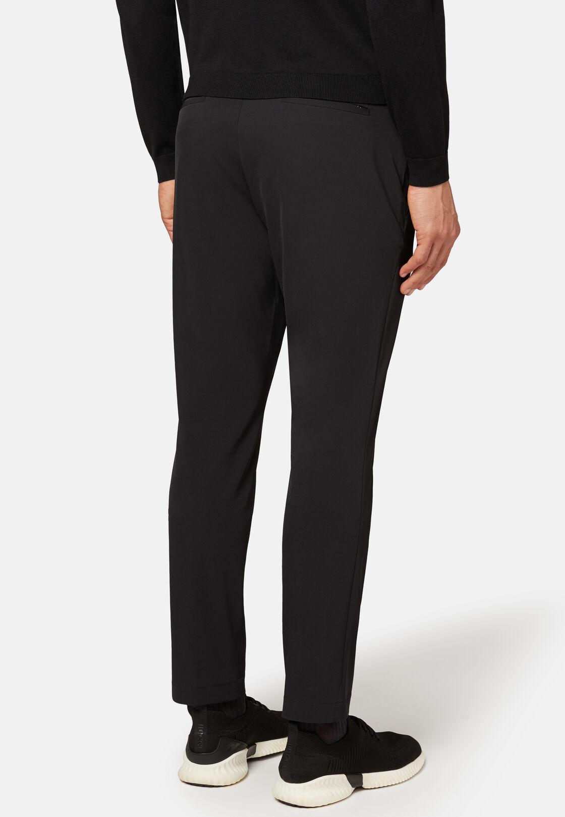 Pantaloni in nylon elasticizzato b tech, Nero, hi-res