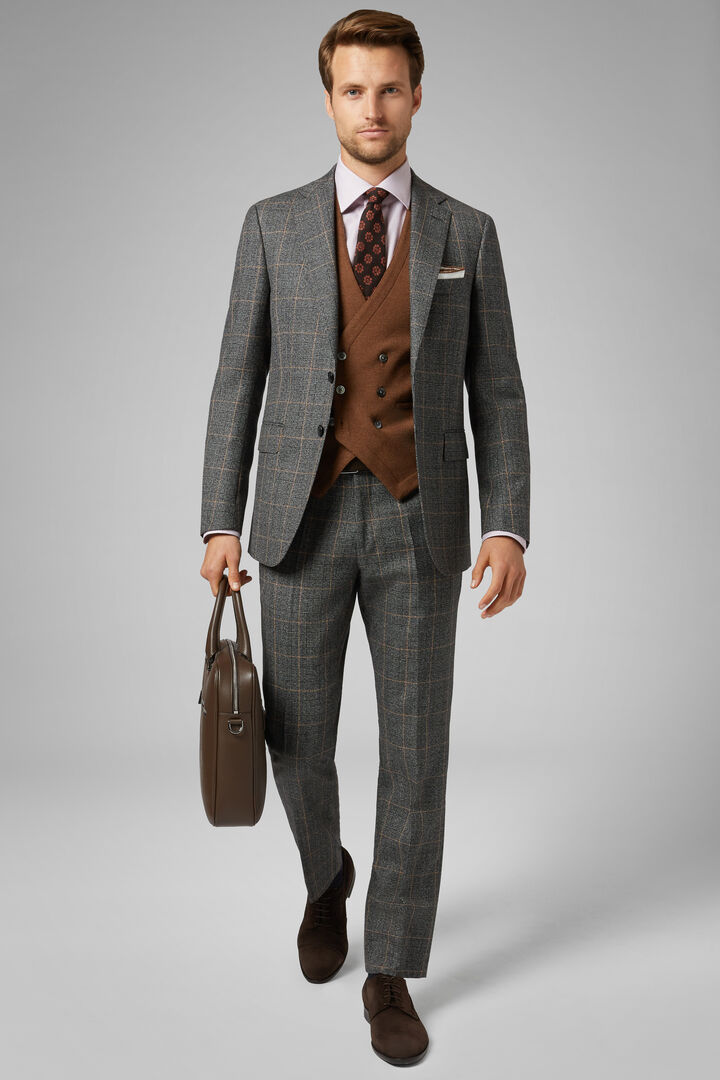 Grey Wool Paris Suit, Grey, hi-res