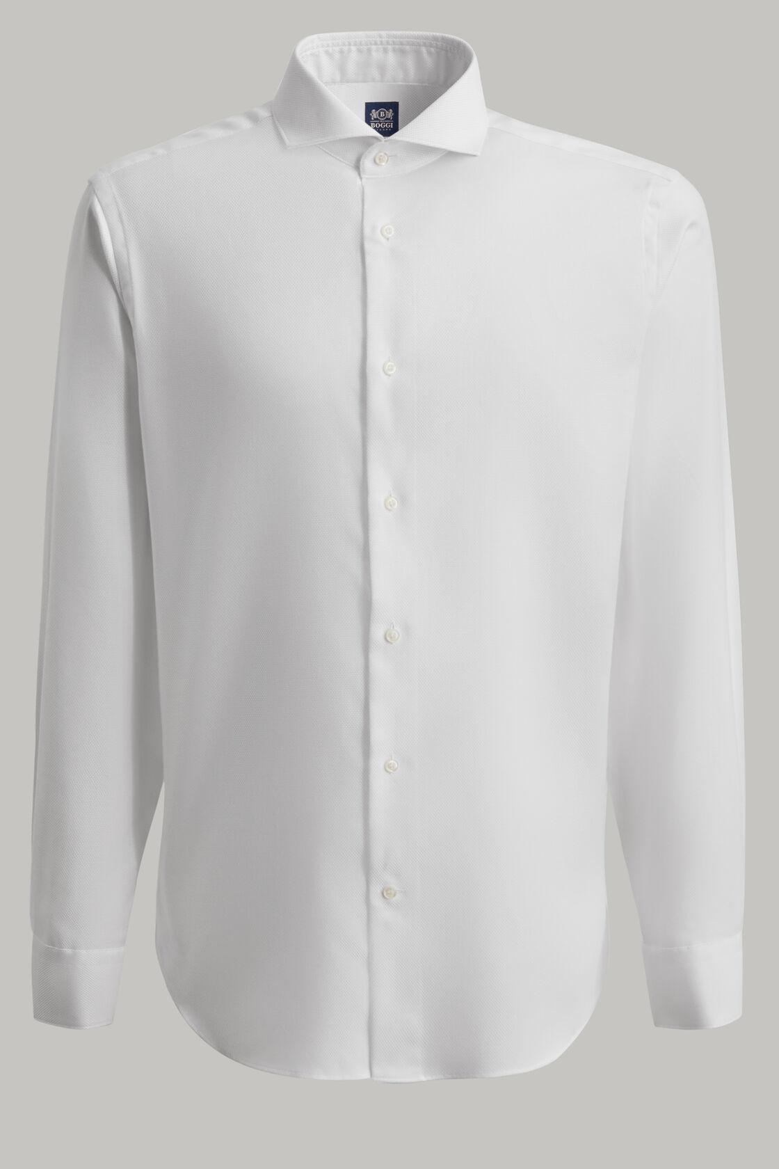 Weisses schafthemd aus baumwolle regular fit, Weiß, hi-res