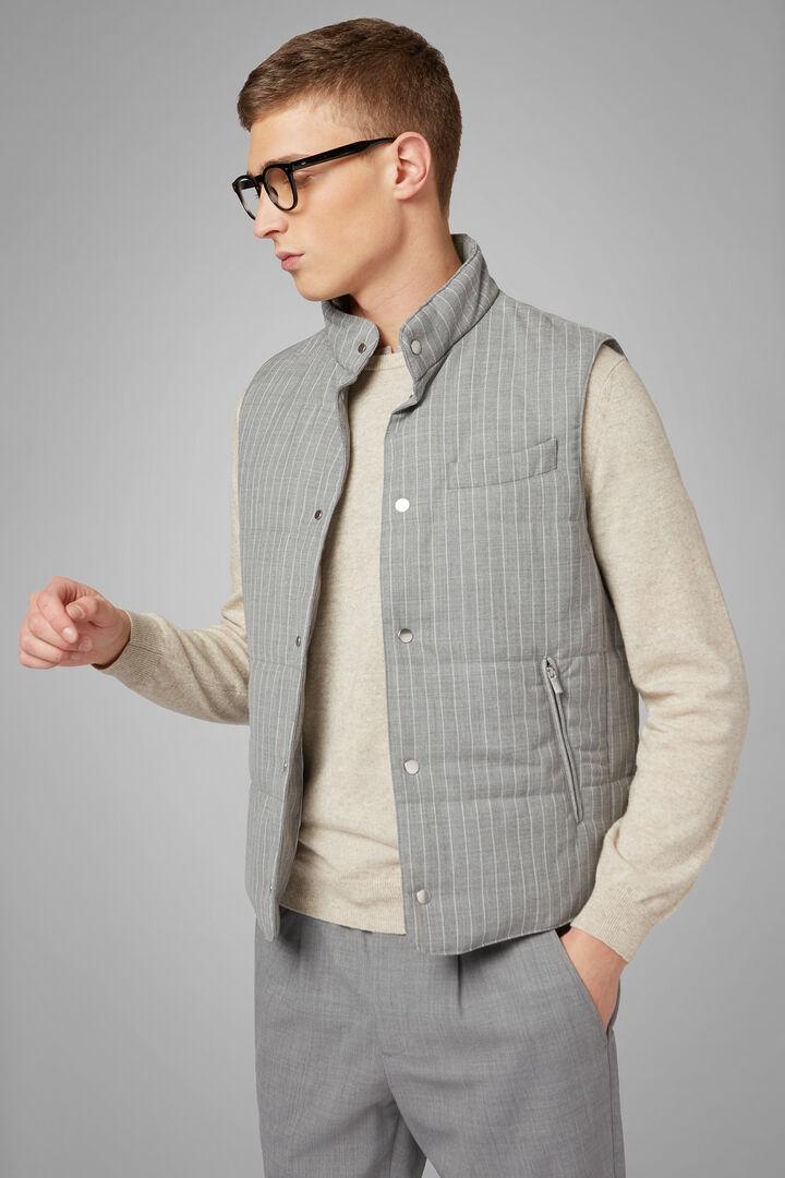 Lined Travel Wool Gilet, Light grey, hi-res