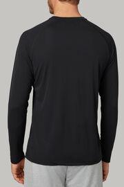 T-shirt aus technischem und nachhaltigem jersey, Schwarz, hi-res