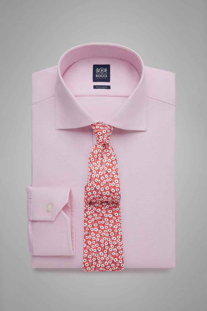 Regular Fit Pink Shirt With Windsor Collar, Pink, hi-res
