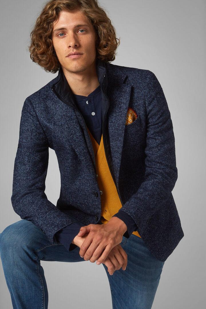 Blue Wool Blend Amsterdam Blazer, Blue, hi-res