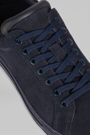 Sneakers In Pelle Scamosciata, Navy, hi-res