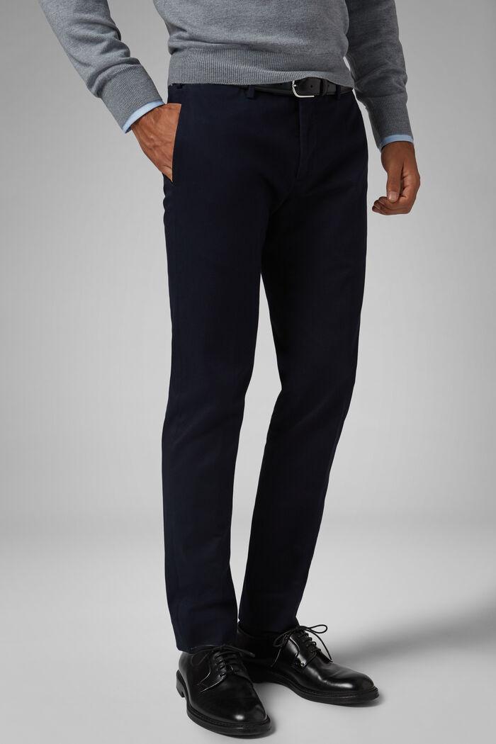 Slim Fit Stretch Cotton Gabardine Trousers, , hi-res