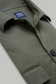 Hemd Militärgrün Mit Camp-Kragen, Militärgrün, hi-res