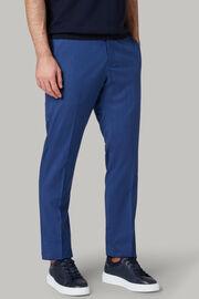 Pantalone Tinta Unita In Lana Super Leggera, Bluette, hi-res