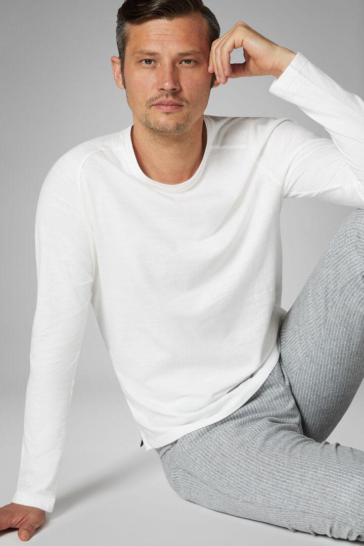 White Cotton Jersey T-Shirt, White, hi-res