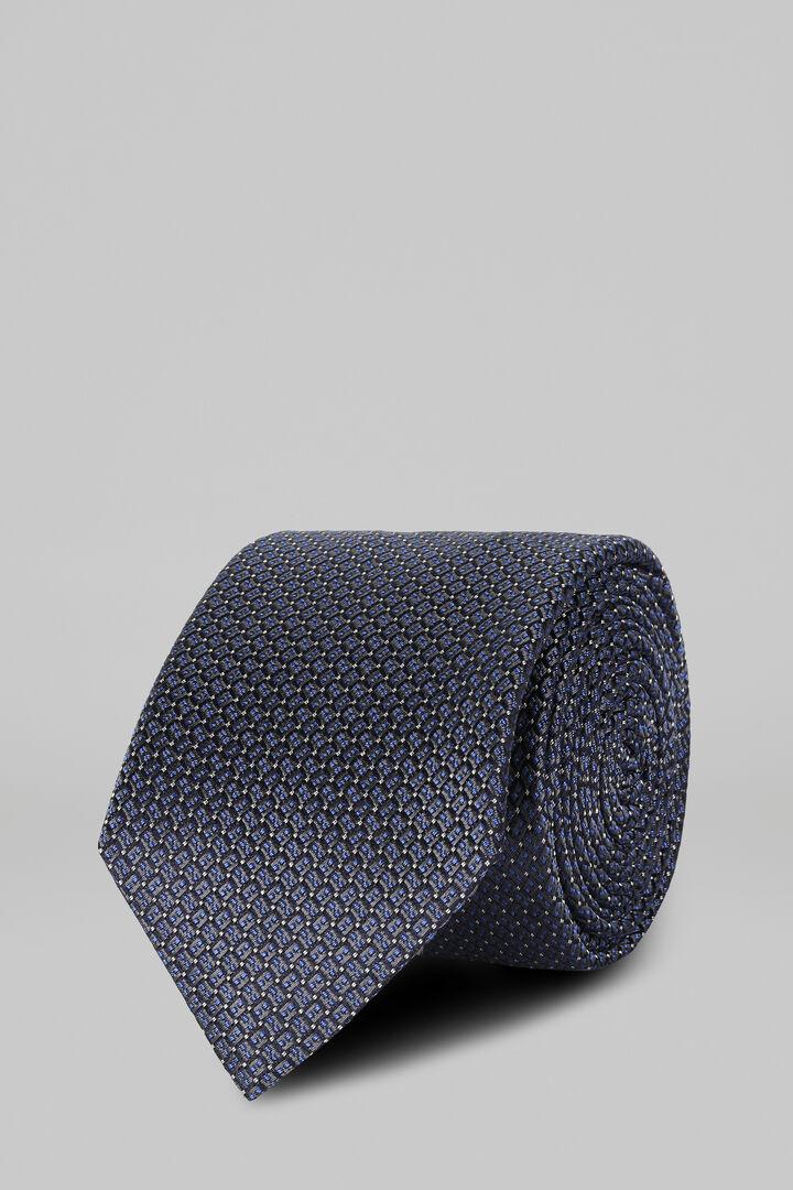 Cravate Unie En Soie Jacquard, Gris, hi-res
