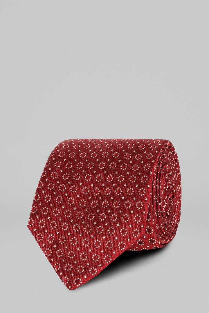 Cravate À Motifs En Soie Jacquard, rouge, hi-res