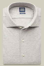 Polohemd mit geschlossenem kragen aus baumwollpiqué regular fit, Grau, hi-res
