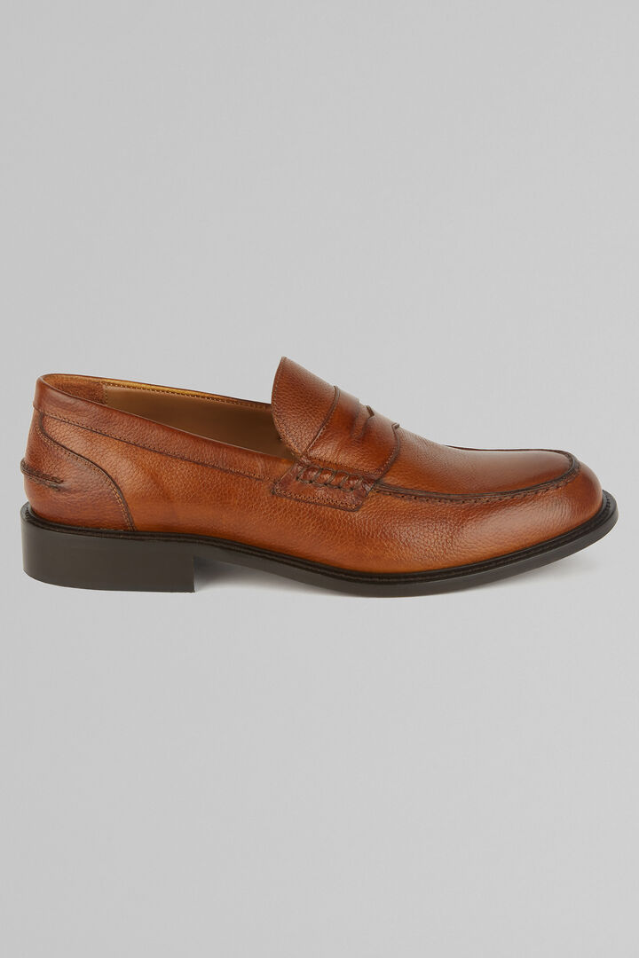 Tanned Penny Loafers, Leather brown, hi-res