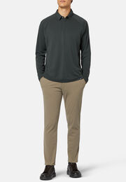 Poloshirt polartec®power dry® regular fit lange ärmel, Militärgrün, hi-res