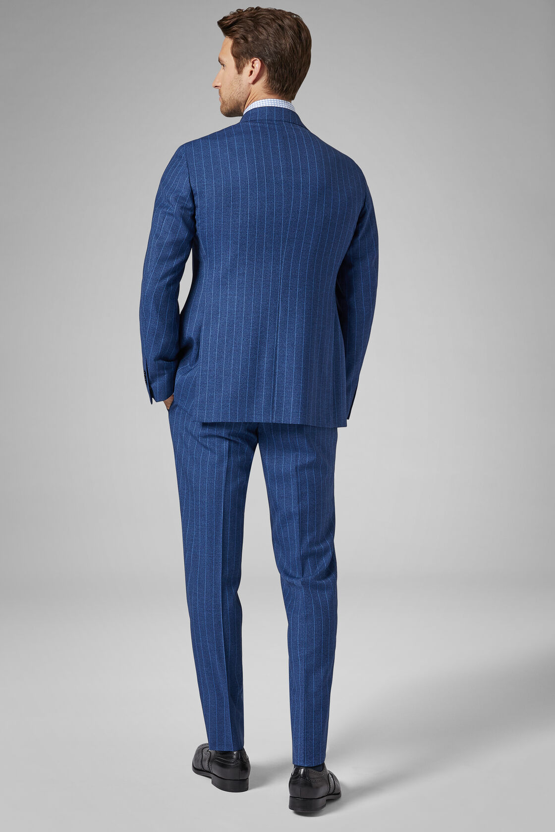 Costume Bleu Mantova En Laine, Bluette, hi-res