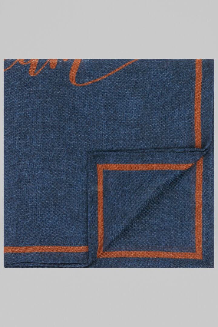 Pochette Dream In Lana Seta, Blu - Arancione, hi-res