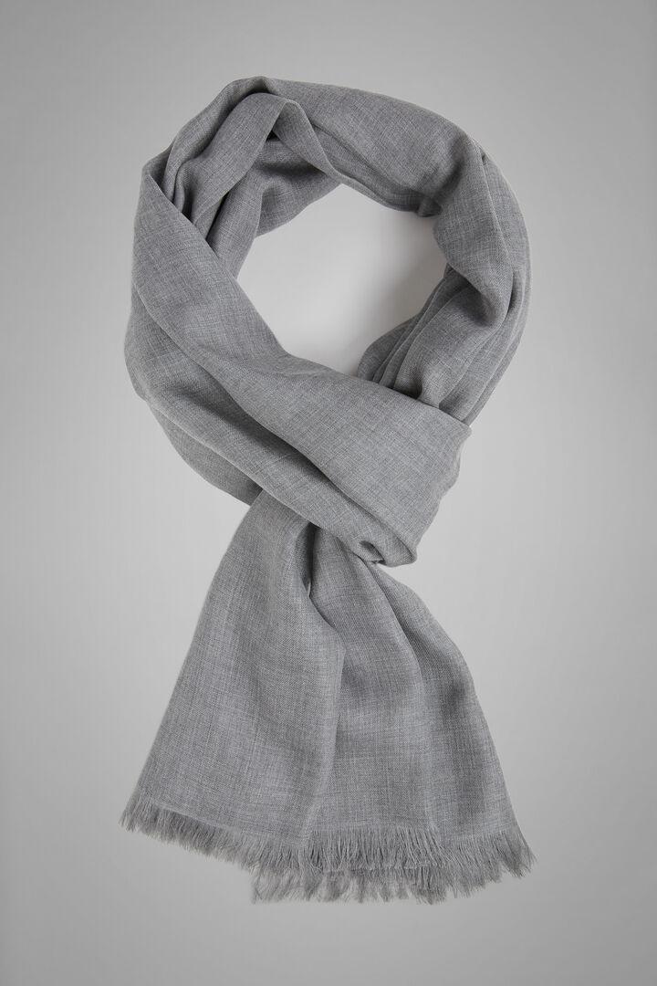 Einfarbiger Schal Aus Modal Und Kaschmir, Grau, hi-res