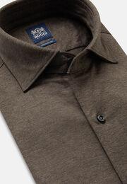 Polohemd aus baumwoll-jersey regular fit, Braun, hi-res